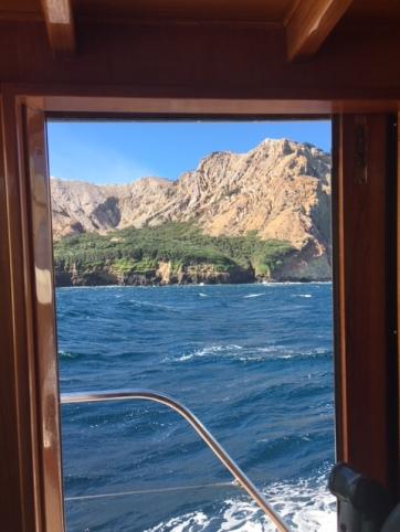 White Island through Window