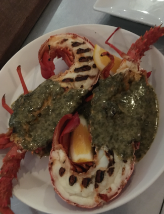 Crays cooked at Ortega