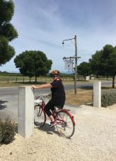 Hannah on her bike