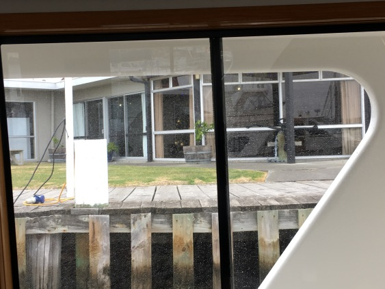 Napier Sailing Club through window of Reso