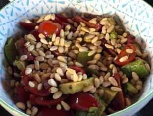 Avocade, Tomato and Pinenut Salad