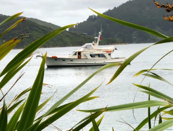 Boat outside BOMC