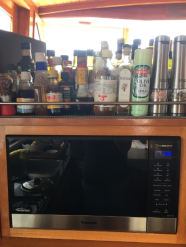 Bottle and Microwave
