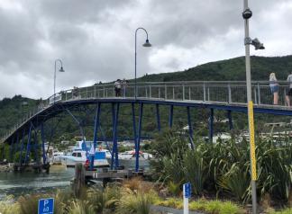 Bridge in Picton Marina