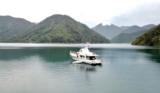 Drone shot of Ngawakawhiti Bay