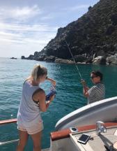 Jen on bait duty