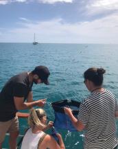 Sam, Jen and J fishing