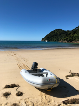 015 Dinghy at Awaroa