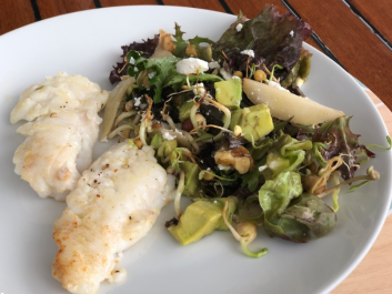 117 Cod dinner with salad