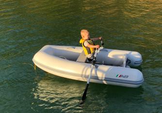 Conor rowing